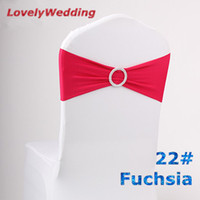 Wholesale spandex chair band with plastic buckle for wedding decoration lycra cover chair bands elastic chair band