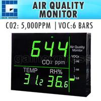 Wholesale M0198158 Wallmount Smart LED Display VOC Carbon Dioxide CO2 Temperature RH Monitor Made in Taiwan