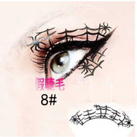 Wholesale Paper cut art false eyelashes stage makeup false eyelashes paper cut art false eyelashes peacock paper false eyelashes styles choose