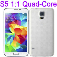 Wholesale 1 S5 i9600 inch MTK6582 Quad Core Android Goophone Quad Band Bluetooth Air Gesture Camera WiFi G Unlocked Smart Mobile Cell Phone