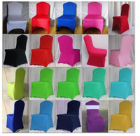 Wholesale Wedding Chair Cover Four Side Stretch chair cover with band in itself Spandex Banquet Wedding Chair Covers High Quality Hotel Chair Cover