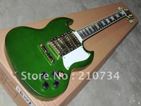 Solid Body 6 Strings Mahogany Custom Shop G Les Custom 3 Pickup SG Electric Guitar Green Top High Quality Best Guitars Musical InstrumentsS