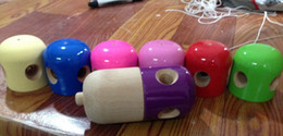 Wholesale 11x5CM Glossy Pill Kendama Toy Japanese Traditional Wood Game Kids Toy PU Paint amp Beech