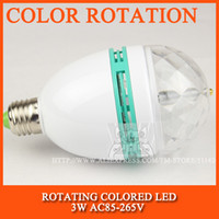 Wholesale LED bulb lamp W rotating colored LED lights Festival color birthday gift E27 W AC85 V