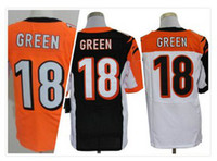 Men Polyester  2014 cheap Jersey American Football jersey 18 A.J.Green jersey Elite 18 Black TopQuality Stitched Retail Wholesale jerseys