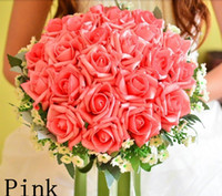 Wholesale High Quality Silk Artificial Bride Hands Holding Rose Flower Bridal Bouquet Wedding Colors Drop Shipping PH0049