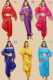 Wholesale 2014 new belly dance set new India dance performance to suit belly dance costumes exercise clothing Dance Suite