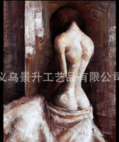 One Panel Oil Painting Traditional 60*80cm 100% handmade Sexy beauty women painting Naked woman body art oil painting