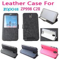 Tirón personalizada caso de la cubierta de protección con la ventana abierta de la contraportada para Zopo ZP998 C2II Smart Phone Pon 2Colors
