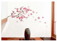 Wholesale PINK CHERRY BLOSSOM TREE Wall Stickers Flowers Decals