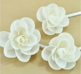 Wholesale Beautiful Blooming White Rose Reed Diffuser Accessiories Home Aroma Flowers for Home Decoration ZH0411