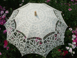 Wholesale In Stock Cheap Wedding Bridal Ivory Umbrella JYU029