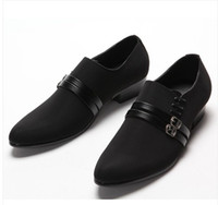 Wholesale Best sell Korea black lace up buckles cusp shoes dress shoes men s casual shoes groom wedding shoes