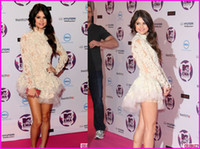 Wholesale Selena Gomez Short White Marchesa Lace Mini Cocktail Celebrity Dress Replicas