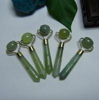 Wholesale Small Green Jade Face Skin Roller Eye Care Massage Women Beauty Massage SH354