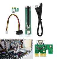 Wholesale PCI E x to x mining machine enhanced extender riser adapter with power cable For Bitcoin