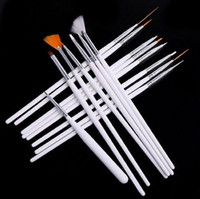 Cheap Gel Nail Brushes nail brush Best 15 Pcs Plastic nail pen