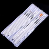 Wholesale 15pcs set Nail Brush Set Gel Nail Art Kit Painting Dotting Design Acrylic Nail Kits White Pen NBS