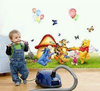 Wholesale Cartoon Bear Swing on Tree Wall Decal Art Stickers Children Nursery Home Decor