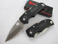Folding Blade China  SPYDERCO F22 knife 440C Blade Outdoor camping hiking survival knife Tactical knife knives K1384