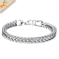 Wholesale Mens stainless steel bracelet Franco chain stainless steel bracelet hand polished size mm approx inch per strand