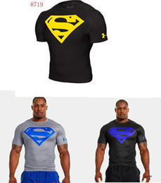 Wholesale New Men s Compression Under UA Armour T shirts Short Sleeve Diamond Logo Tees Fitness Easy to Dry S XXL