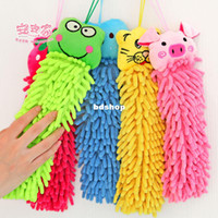 ann free - Ann hearts home cartoon animal hanging towel chenille hand towel slitless towel