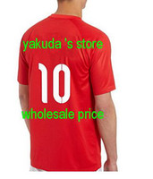 Customized Thai Quality World Cup Jerseys, 2014- 15 Red Away #...