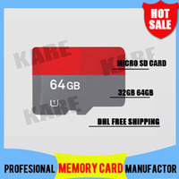 TF / Micro SD Card 64G 50pcs DHL Free shipping high speed SD 32GB 64GB Class 10 Micro SD TF Memory Card with Adapter Retail Package Flash SDHC Cards Transflash