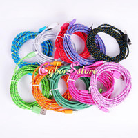 Wholesale Fabric Weave M ft Micro USB Data Charge Sync V8 Cable Cord For Samsung Galaxy S4 S3 S2 Blackberry HTC etc