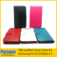 For Apple iPhone Leather  New Wallet Flip PU Leather with Stand holder case with Credit Card slot for Samsung Galaxy S3 S4 S5 I9300 I9500 I9600 Note 2 3 N9006