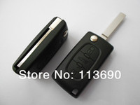 Wholesale Peugeot No Groove No Battery Position Buttons CAR KEY SHELL COVER BLANK CASE