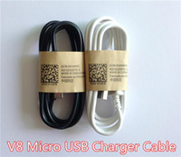 V8 Micro USB Charger Cable   Wholesale - USB Cable Data Charger Cable For Samsung Galaxy S4 S3 S2 V8 Micro USB Data Sync Charging Cables Cord 1M 3FT y HTC Universal