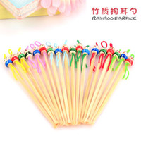 Wholesale Cute cartoon Doll Bamboo Earpick Ear Picks Ear Cleaner Ear Cleaning Natural Small Tools Cheap price