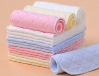 Wholesale 2016 Hot Sale Layer Ecological Cotton Insert Diapers Nappy Liners Washable Baby Breathable Diapers NP