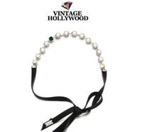 Silver hair fall - Korean female multipurpose hair accessories pearls and precious stones fall ribbon necklace waist chain bracelet