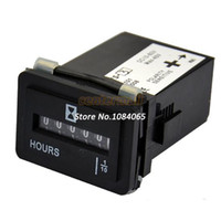Wholesale New AC DC V V Hour Meter Magneto Powered Small Engine Hour Meter Black Dropshipping TK0284