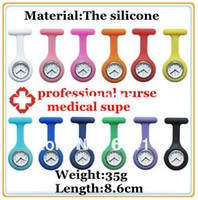 Wholesale HOT Selling Silicone medical nurse watches chest table Silica gel Clocks watches supe Pocket watch many color