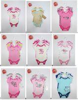 Unisex Spring / Autumn Short 5 pcs set Baby Rompers Set infant Short Sleeve Bodysuits Baby Girl Clothes 18sets lot#3479