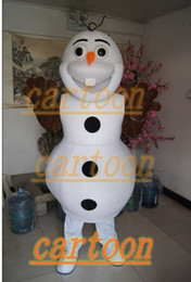 Wholesale Real Pictures Deluxe Olaf From Frozen mascot costume