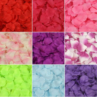 Wholesale 1000 colors artificial flower Silk Petals Wedding Flowers Decor party decorations