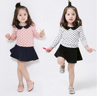 Girl ladies skirt suits - 201404 Korean children s clothing spring models water point explosion models ladies skirt suit children suit Q