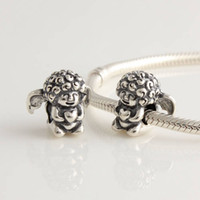 Bead Caps Fashion Beads Vintage Baby Angel 925 Sterling Silver Spacer Charm Beads, DIY Jewelry suitable for European beauty Bracelets DIY Making FJ297