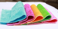 Eco Friendly   5 pcs lot 100% Bamboo Fiber Washing Cloth Magic Multi-Function Efficient ANTI-GREASY Wiping Cleaning Rags Cleaning Cloth Dish Towel 16*18CM