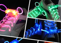 Wholesale LED Flashing shoelace light up shoe laces Laser Shoelaces fashion gifts pairs New