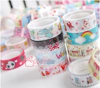 washi tapes - Freeshipping New High quality washi masking tape vintage tower sweet lace flower adhesive tape DIY sticker label