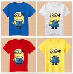 Wholesale New Children s despicable me t shirt boy tshirts girl Tshirts children cotton Beedo Tshirt kids Minions clothing colors Y Y