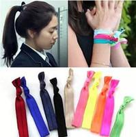 Wholesale 100pcs Korean Popular Pony Tails Holder Happiness knot Hair Jewelry Headdress Headband Bracelets Girl Gifts