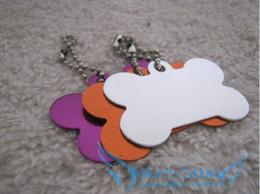 Free Shipping 50pcs lot Creative cute Big bone Dog Tags Anodized Customized Pet ID Ball Chains