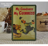 Wholesale 20 cm My Goodness MY GUINNESS Beer Poster Metal Painting Tin Sign Decorative Plaques Bar Pub Decor